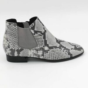 Munro Womens Cate Ankle Boots Multicolor Gray Snakeskin Leather Zipper 8.5 M