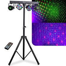 IBIZA Light DJLIGHT65 LED Lichtanlage Laser + Stativ + IR Fernbedienung Laser