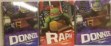 Teenage Mutant Ninja Turtles TMNT 1 Raph 2 Donnie wide ruled spiral notebooks