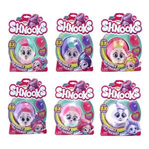 Zuru Shnooks Plush + Comb Kids Childrens Soft Toy Combable Hairstyles