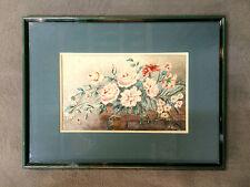 Peinture / aquarelle ancienne sur papier signée  M. BALLURIAU
