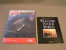 Auge International New Zealand & Welcome to our World -2 1990 New Zealand Books