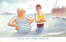POSTCARD   COMIC   Water  Sir ! I never touch it !       Bert  Thomas     Tuck
