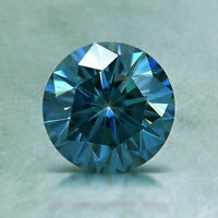 Loose Moissanite Vivid Blue 2.44 Ct 10.40x8.25 mm Pear Brilliant Cut For Jewelry