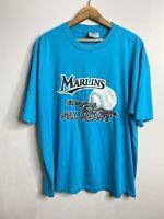 Vintage Florida Marlins 90s Tee Shirt XL Crew Neck Teal  MLB Short Sleeve