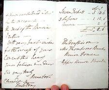 1840 LONDON LETTERA DI ANN HOOK AL VIOLINISTA BOLOGNESE CESARE EMILIANI A LONDRA