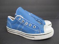 Vintage Retro Converse in Light Blue Canvas Shoes 60s/70s Kids' Size: 3