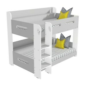 Sky Bunk Bed in Grey and White - Ladder Can Be Fitted Either Side!