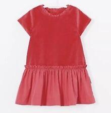 Jacadi Red Velvet And Taffeta Dress 18 Months