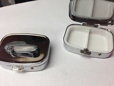Reliant Robin Mk1 Saloon ref202 pewter effect car emblem silver metal pill box
