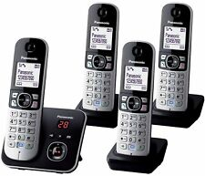 Panasonic KX-TG 6824 Quad Cordless Phone with Answer Machine 4 Handsets