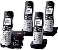 Panasonic KX-TG 6824 Quad Téléphone sans fil avec répondeur 4 Combinés