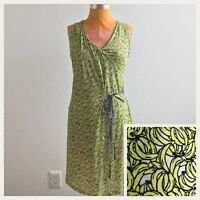 Mango MNG Collection Womens Dress Bananas Sleeveless V Neck Faux Wrap Size S