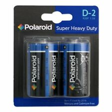 2 x Polaroid D Type 1.5v R20P Heavy Duty Battery Mercury Free Batteries Pack