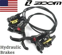 ZOOM MTB XC FR Bike Brake lever Calipers Hydraulic Disc Brakes Front Rear Black