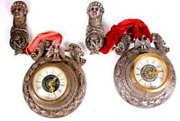 Napoleon Mercedes West German Wall Clock Pair Circa 1923 French Imperial Eagle