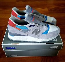"NEW BALANCE 998 CNG/ABZORB TECH ""BASEBALL PACK"" GREY, BLUE, ORANGE /SZ 12  BNIB"