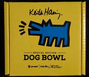 NEW - Pet Releaf Keith Haring The Barking Dog Collection Dog Bowl - Yellow