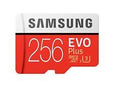 SAMSUNG EVO PLUS 256 GB micro SDXC Memory Card 100MB 256G UHS U3 4K UHD microSD