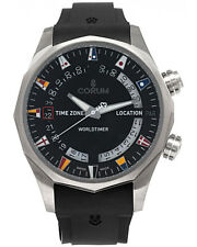 CORUM ADMIRAL LEGEND 47mm WORLDTIMER TITANIUM AUTOMATIC MEN'S WATCH $10,500