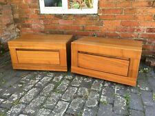 Fabulous Matching Modern Pair of Wood Effect Low Level Bedside Drawers