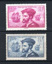 "FRANCE STAMP 296/97 ""JACQUES CARTIER AU CANADA 2 TIMBRES "" NEUFS xx LUXE R822"