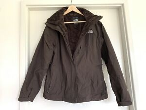 Womens THE NORTH FACE Hyvent Brown Jacket Size L #17843