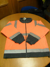 Leo 2066i Class 3 Orange/Grey Hi-Visibility Fleece Jacket [XL]