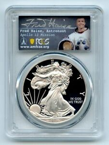 2016 W $1 Proof American Silver Eagle PCGS PR70DCAM Fred Haise