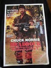 BRADDOCK MISSING IN ACTION 3 movie poster CHUCK NORRIS original 1988 video promo