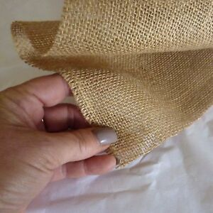 Hessian Fabric floristry rustic art die cut craft garden use upholstery natural
