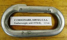 Chouinard 1977 - 1982 Featherweight Carabiner 1600 Kg & Some History