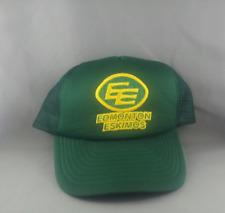 Edmonton Eskimos Trucker Hat (VTG) - Crested Logo - Adult One Size Sanpback