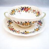 Royal Doulton LEIGHTON D6164 Cream Soup Cup & Saucer Set(s) READ