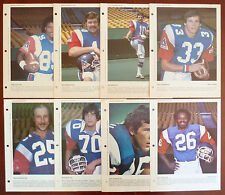 1979 to 1981 Dimanche / Derniere Heure CFL Montreal Alouettes Photos Lot of 8