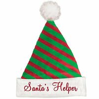 Santas Helper Elf Santa Hat Striped
