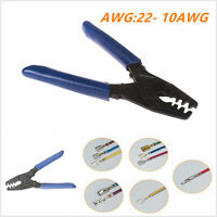 AWG 10-22 Terminal Crimp Electrical Crimper Crimping Tool Wire Stripper Plier