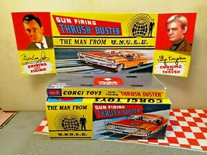 Corgi 497 Man from UNCLE Oldsmobile EMPTY Reproduction Box & Insert NO CAR
