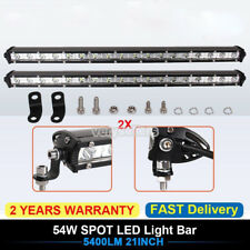 2X 20inch 54W LED Single Row Work Slim Light Bar Spot OFFROAD DRIVING SUV ATV