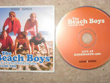 NEW THE BEACH BOYS LIVE AT KNEBWORTH 1980 VOLUME TWO - SUNDAY EXPRESS ALBUM CD