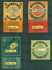 City+of+New+York+Commercial+Motor+Vehicle+Tax+Stamps+1954-57.+UNUSED+on+original