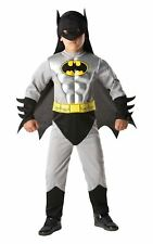 Boys Batman Total Armour Metallic Muscle Chest Superhero Fancy Dress Costume 5 - 6 Years 881823