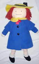 Vtg Eden Madeline Doll 1990 Yellow Hat Blue Coat Stuffed 15� Appx Scar Exc Cond!