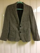Men's Zara Tweed Jacket With Elbow Patches and patch pockets Eur 46 Size XS