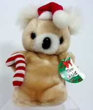 RARE VTG 1985 Jerry Elsner Tan Koala Bear Plush Christmas Ornaments Stuffed Toy