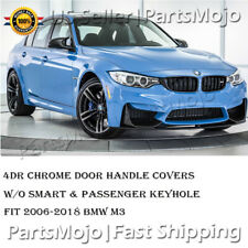 4DR Chrome PlatedDoor Handle Cover Trims W/O Smart Keyhole For BMW M3 2006-2018