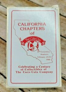 NOS Coca Cola Playing Cards 1986 Cola Clan 8th Convention Deck