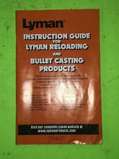 Lyman Instructional Guide For Reloading And Casting, Equipment Manual
