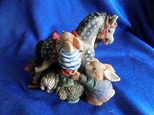 Gordon Fraser country companions Hedgehog and friends with Rocking Horse - No 45