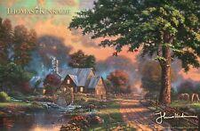 "Simpler Times II - Water Wheel -- 8 1/4"" x 5 1/2"" Thomas Kinkade Dealer Postcard"